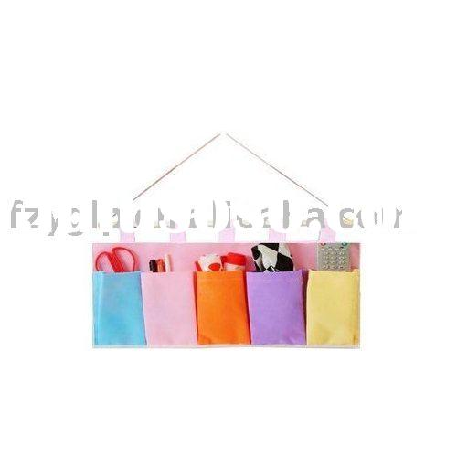 Non woven fabric storage hanging bag