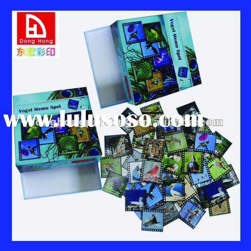 OEM colorful game card and box printing
