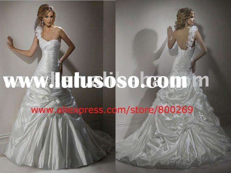 One-shoulder wedding dress ball gown 2011 SL-4334