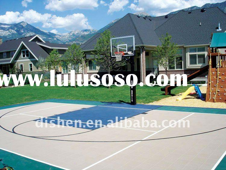 PU outdoor rubber basketball court