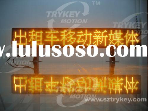 Taxi LED Moving Signs, Taxi Advertising Sign, Taxi LED Display