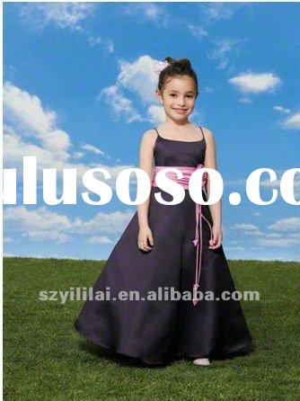 black and pink designer flower girl dresses
