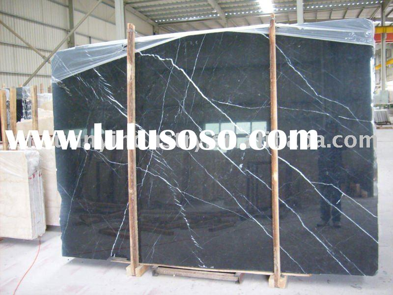 black and white marble slab