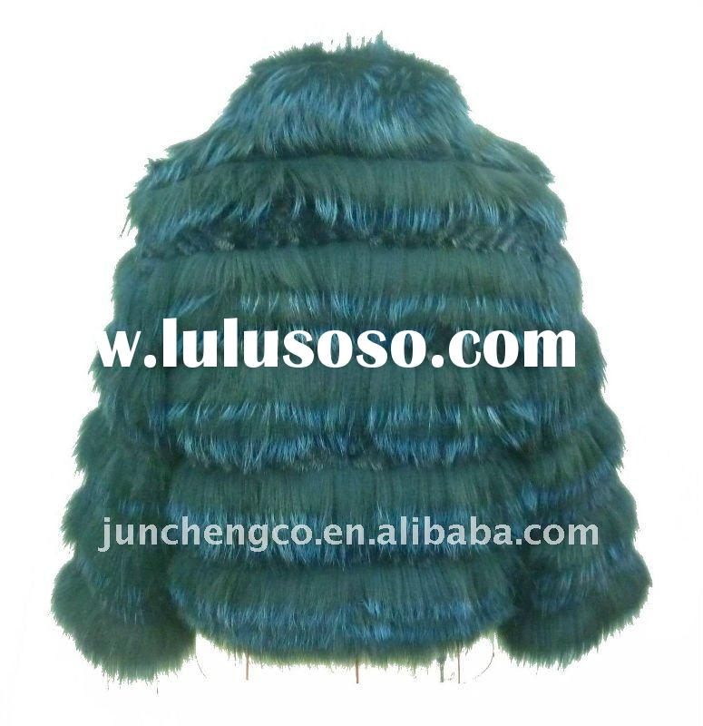 blue silver fox and blue mink fur coat