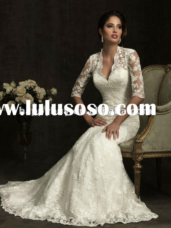 long sleeve lace wedding dresses 2012