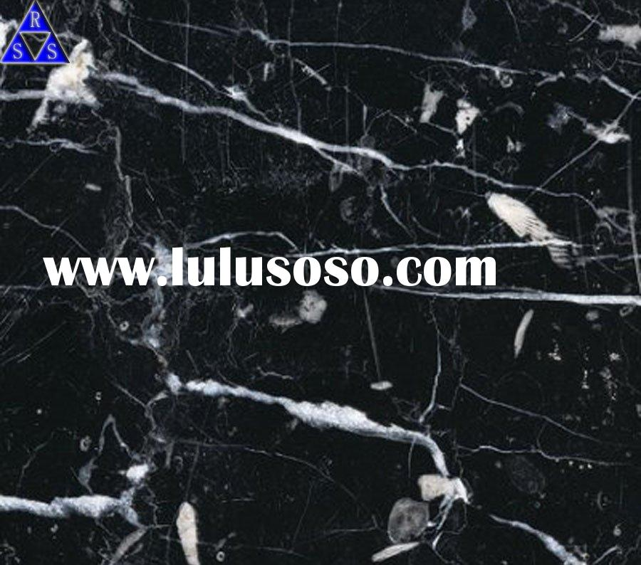 nero marquina polished black and white marble tile
