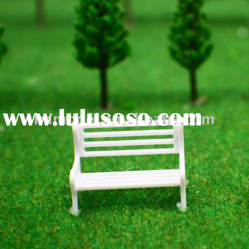 scale bench chair N, OO, O ,HO scale park chair for model train layout