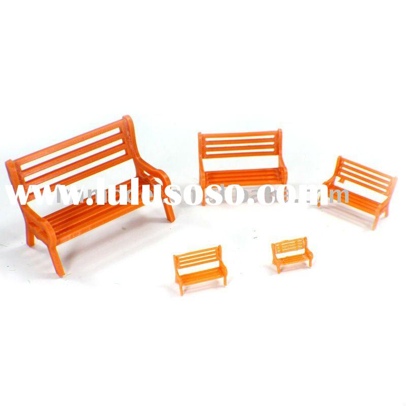 scale bench chair OO, O , N scale part chair for model train layout