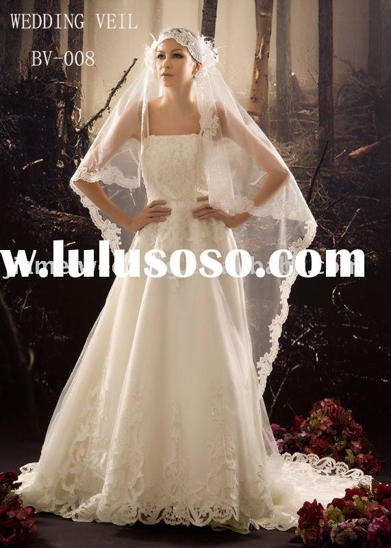 wedding veil wedding dress lace edge embroidery arabic