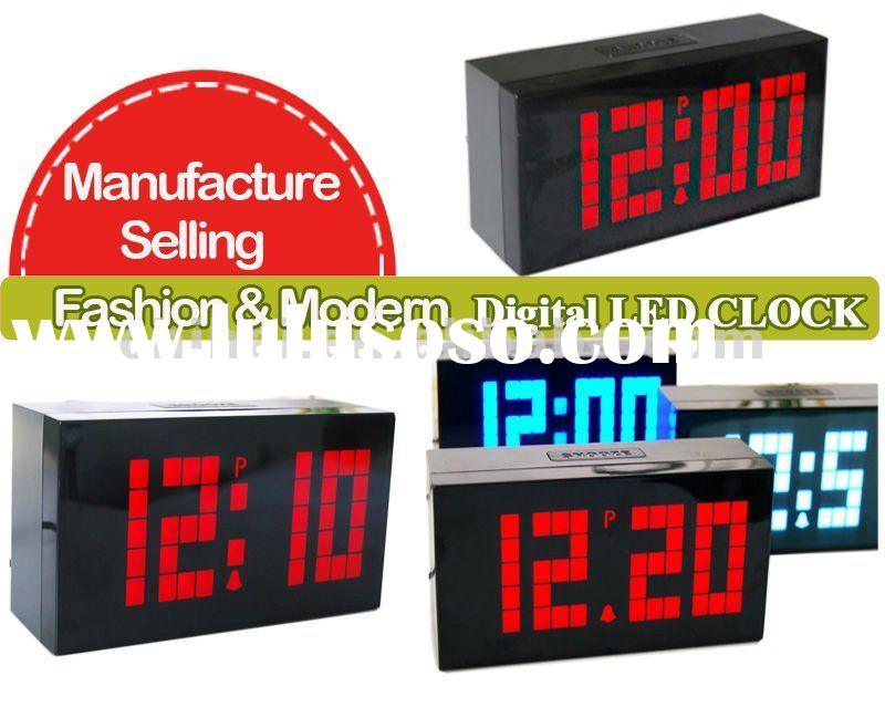 Home Decortative Big Digital time date temperature wall clock,time ,calendar,date, temperature.