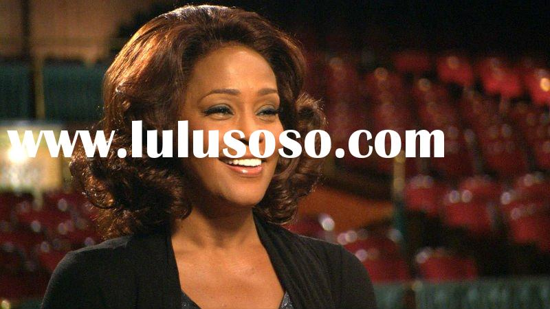 100% Indian Remy Human Hair Whitney Houston French Curl 18 Inches Celebrity Full Lace Wigs