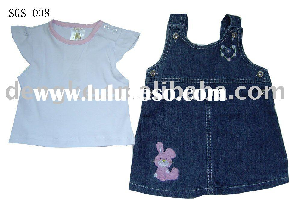 100% cotton baby clothes with cute embroidery