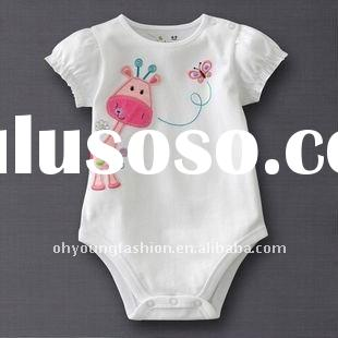 100% cotton printing short sleeve infant climb bodysuit