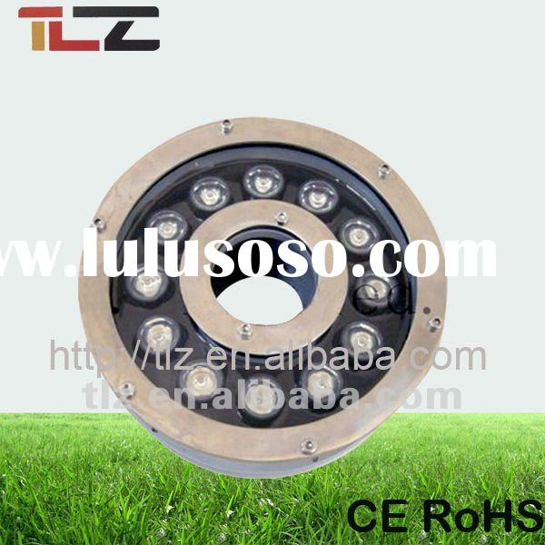 12W round waterproof underwater led battery lights with CE RoHS two years warranty