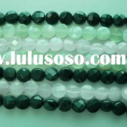 "16"" 8mm gemstone beads faceted roune disc mixed stones"