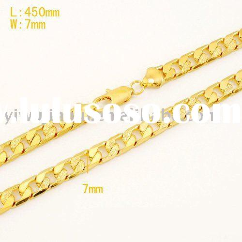 18k Fashion Necklace Jewelry Gold Plated Fashion Jewelry Necklace Thick Chain Necklace Jewelry