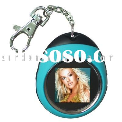 "1.5"" digital photo keychain with oval shape,good for gift"