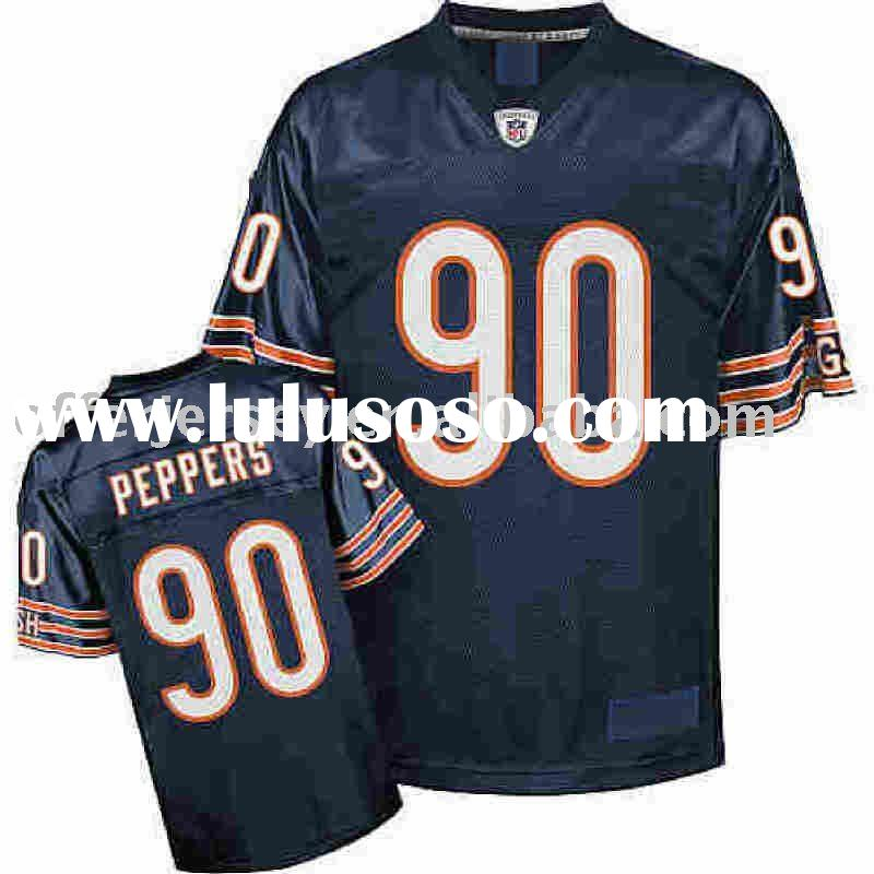 2010 Chicago Bears jerseys #90 Julius Peppers Authentic Football Sports Blue jersey sz 48-56 Accept