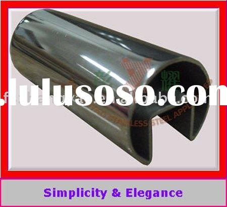 2010 stainless slotted tube for clamp handrail & glass system