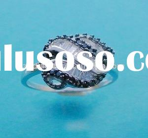 2011 JUN NEW 1 carat solitaire diamond ring Design fashion 925 stearling silver ring jewelry with cz