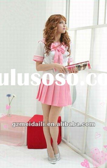 2012 new design of school uniform,japanese pink school uniform,high school uniform for girls