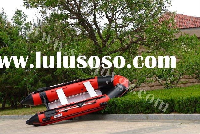 2012 new pvc inflatable air floor motor boat motor boat