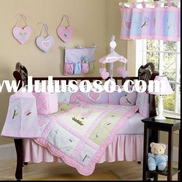 2012 newest bed sheet design baby bedding set /cotton bedding set /baby crib bedding set