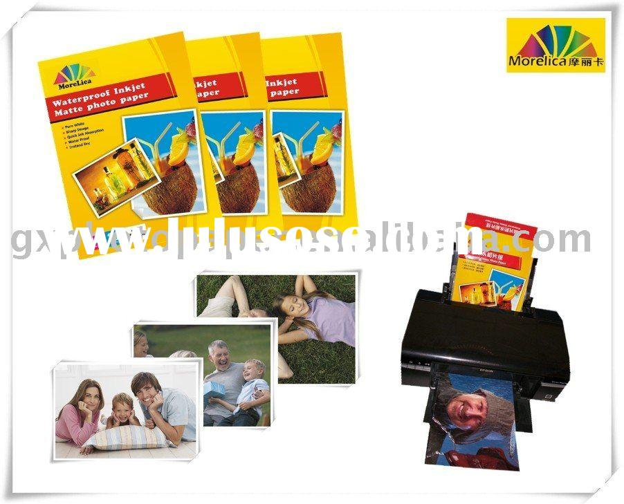 240G Premium Waterproof Matte Coated Inkjet Photo Paper, A3/A4/3R/4R Size(H), Professional Manufactu