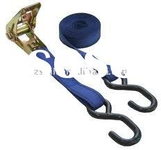 25mm cargo lashing, rope ratchet tie down or as required