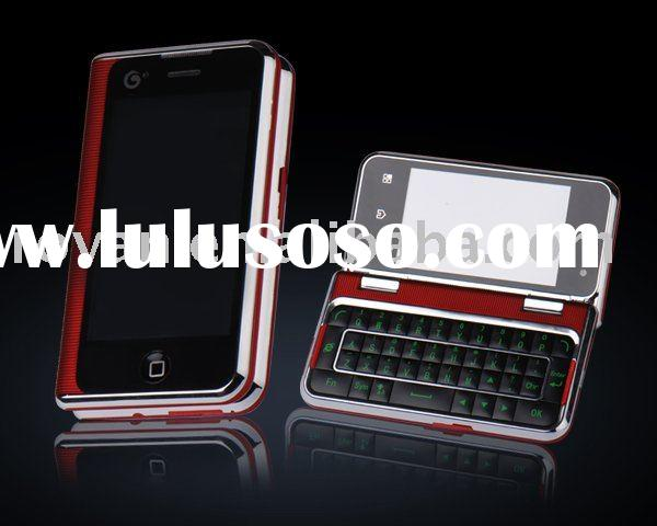 2-touch screen mobile phone with qwerty+slider +multi-fuctions