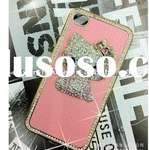 3d hello kitty diamond bling case for iphone 4 4s