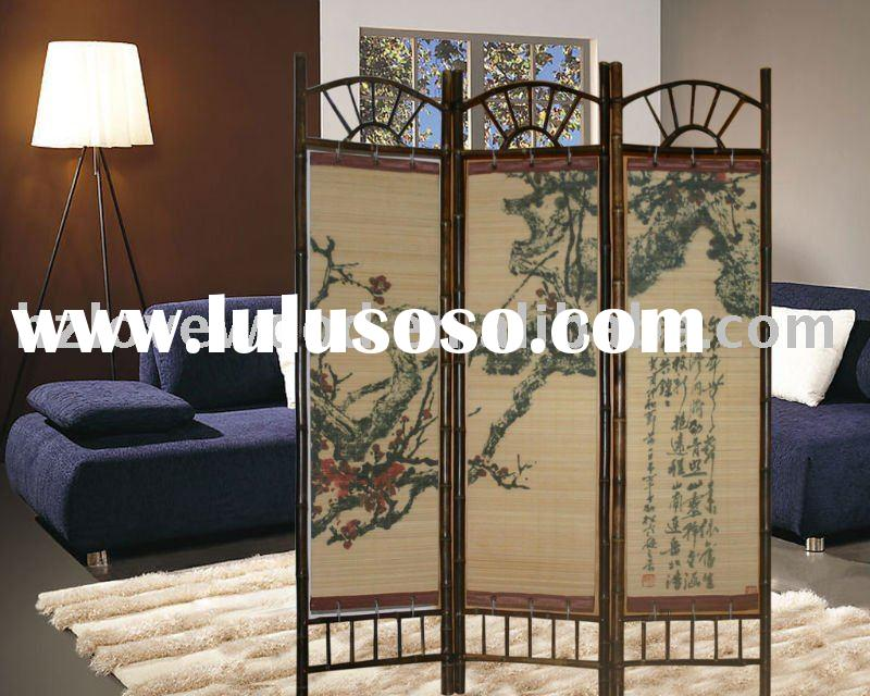 "50PC MOQ 52""W x 69""H 3-panel room screen room divider high quality whole"