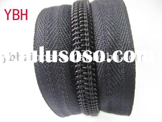 5# Hot sale nylon long chain zipper for bags