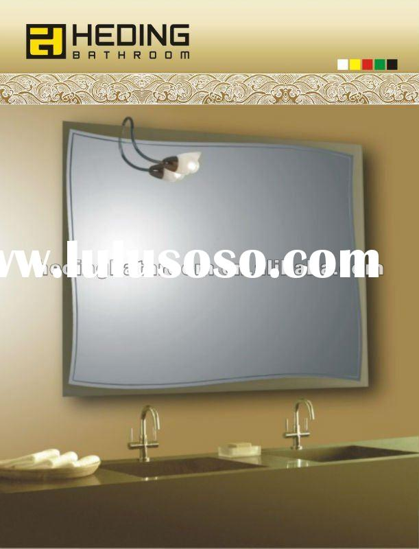 5mm silver mirror with sandblasting bathroom wall mirror