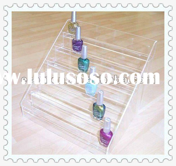 6 tiers Clear Acrylic display stands nail polish rack