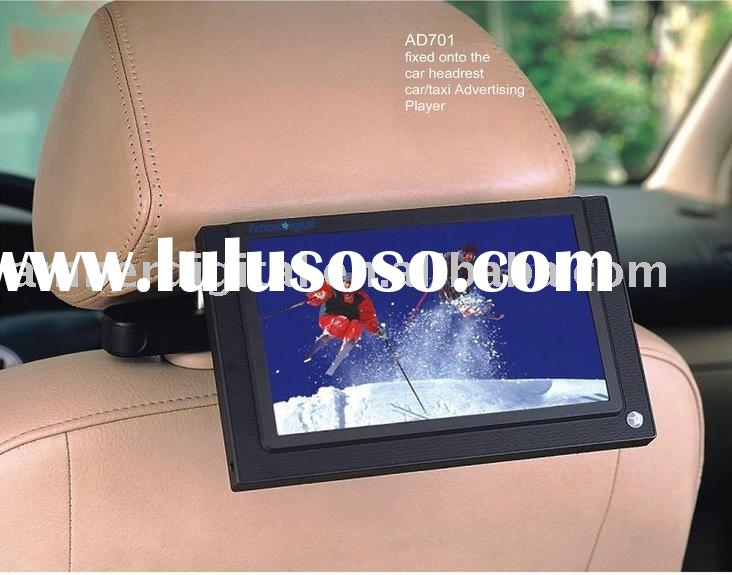 7 inch LCD Car/taxi advertising player,multi media display screens,LCD retail digital signage,Digita