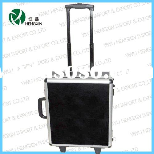 Aluminum trolley tool box, travel tool box,rolling tool box,Business travel time trolley hard case l