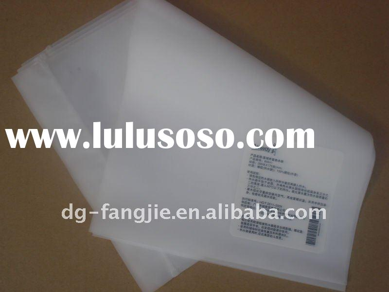 Amway CPE zipper milk white promotion plastic bags