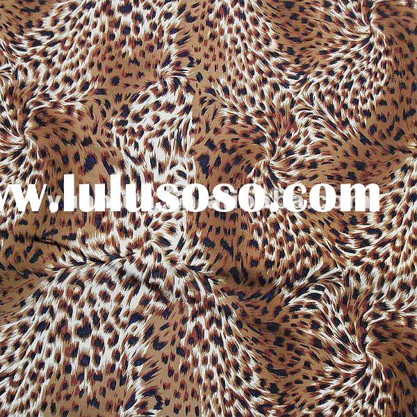 Animal print fabric for swimwear,82% nylon 18% spandex leopard animal print fabric