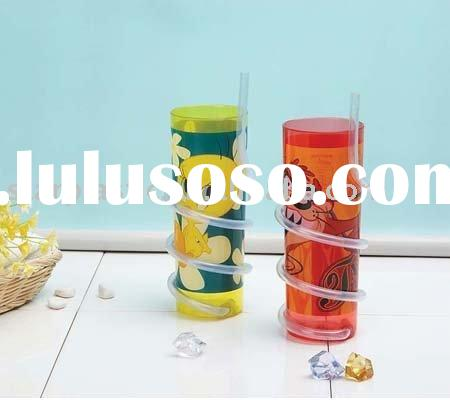 BPA free,200ml,250ml,350ml,400ml,450ml,500ml, plastic drinking cup with straw,straw cup,plastic cup