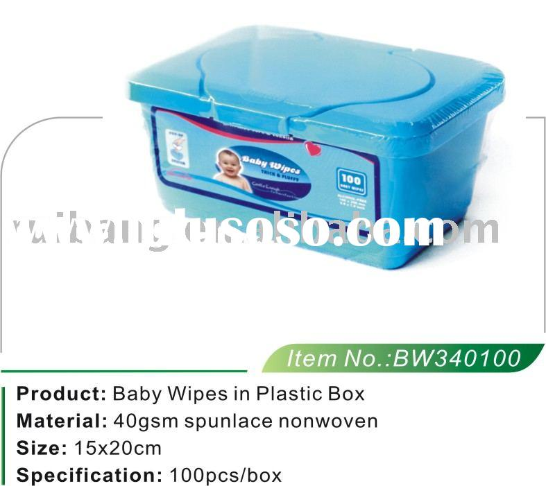 Baby Wipes in Plastic Box