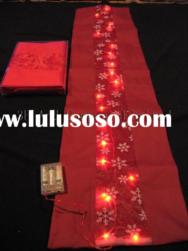 Battery operated led lights with desk flag