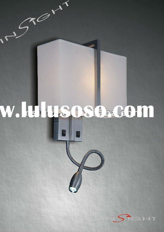 Bedside reading wall light/lamp with LED tail for hotel