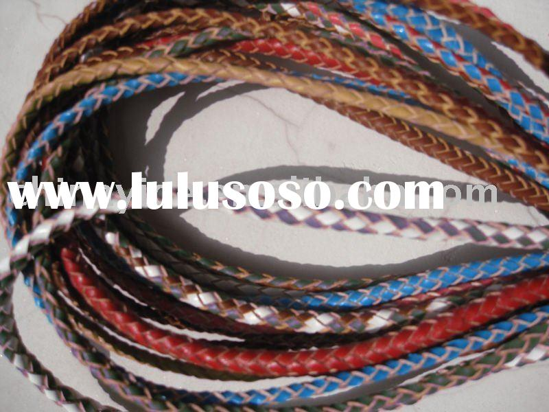 Braided leather cord, durable cords