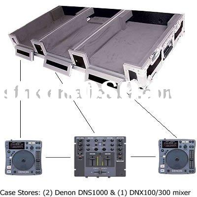 "CASE FOR 2 X NUMARK AXIS 9 CD PLAYERS + 19"" MIXER WITH LOW PROFILE WHEELS"