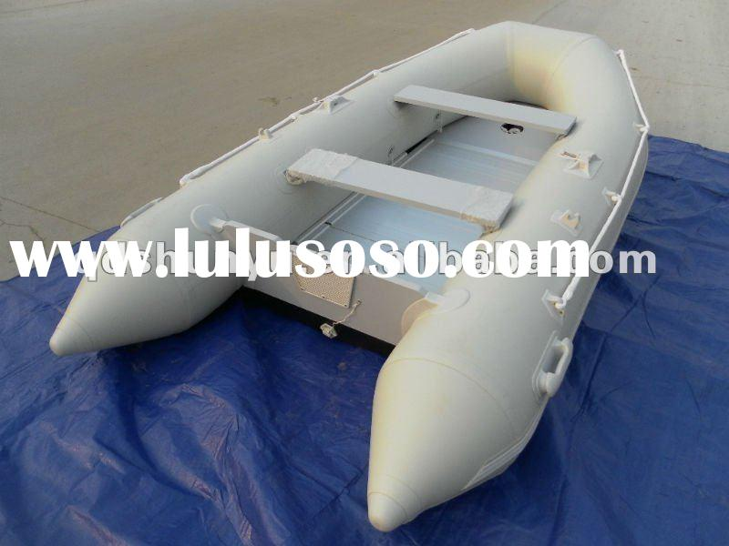 CE 0.9-1.8mm korea pvc material wood floor inflatable boat by hand made in china
