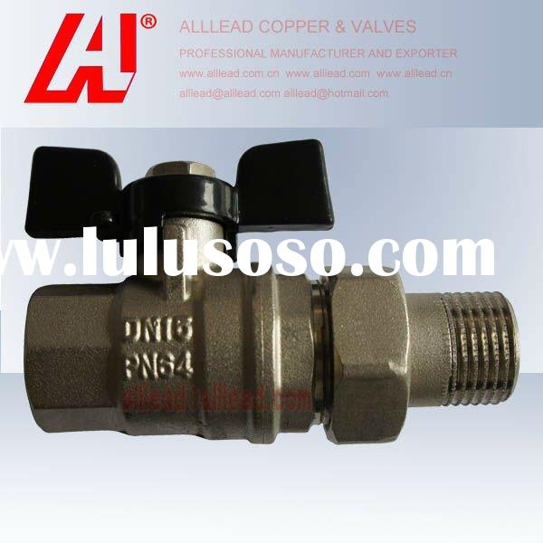 CW617n brass ball valve with union