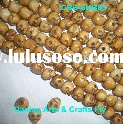 Cattle bone bead carved bead jewelry bead skull bead shell bead stone bead