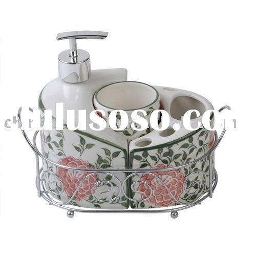 Ceramic bath accessories,soap dish,toothbrush holder,cup,dispenserbathroom set,bathroom accessories