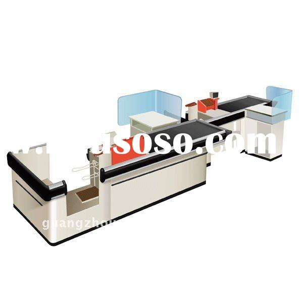 Checkout Counter with belt Double supermarket checkout counters